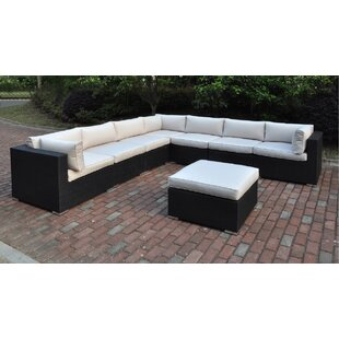 Latitude Run Lacourse 8 Piece Sectional Set with Cushions