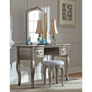 Greyleigh Troutdale Vanity Set with Mirror