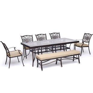Carleton 7 Piece Dining Set With Cushions by Fleur De Lis Living Discount