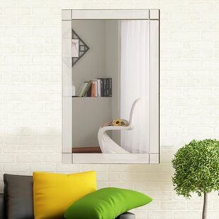 Top Reviews Wetzel Rectangle Bathroom Mirror By Mercer41