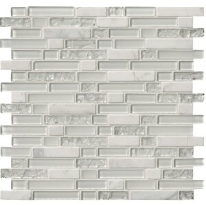 Delano Blanco Glass/Stone Mosaic Tile in White