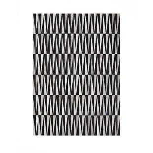 Read Reviews Opal Knotted Black Area Rug ByLinie Design