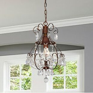 Sidney 1-Light Crystal Pendant by House of Hampton