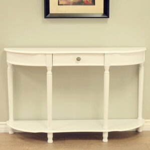Half Circle Wood Console Table