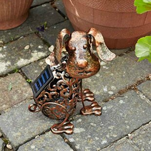 Hamil Solar Powered Light Up Effect Dog By Sol 72 Outdoor