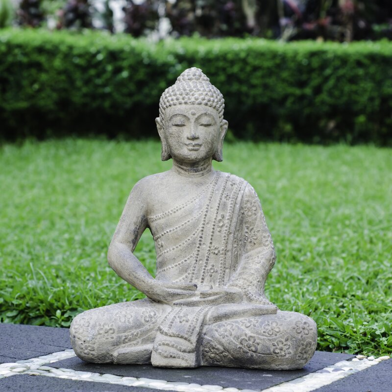 volcanic ash blossom buddha statue