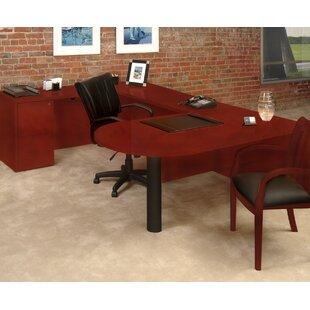 Order Luminary Series U-Shape Executive Desk ByMayline Group