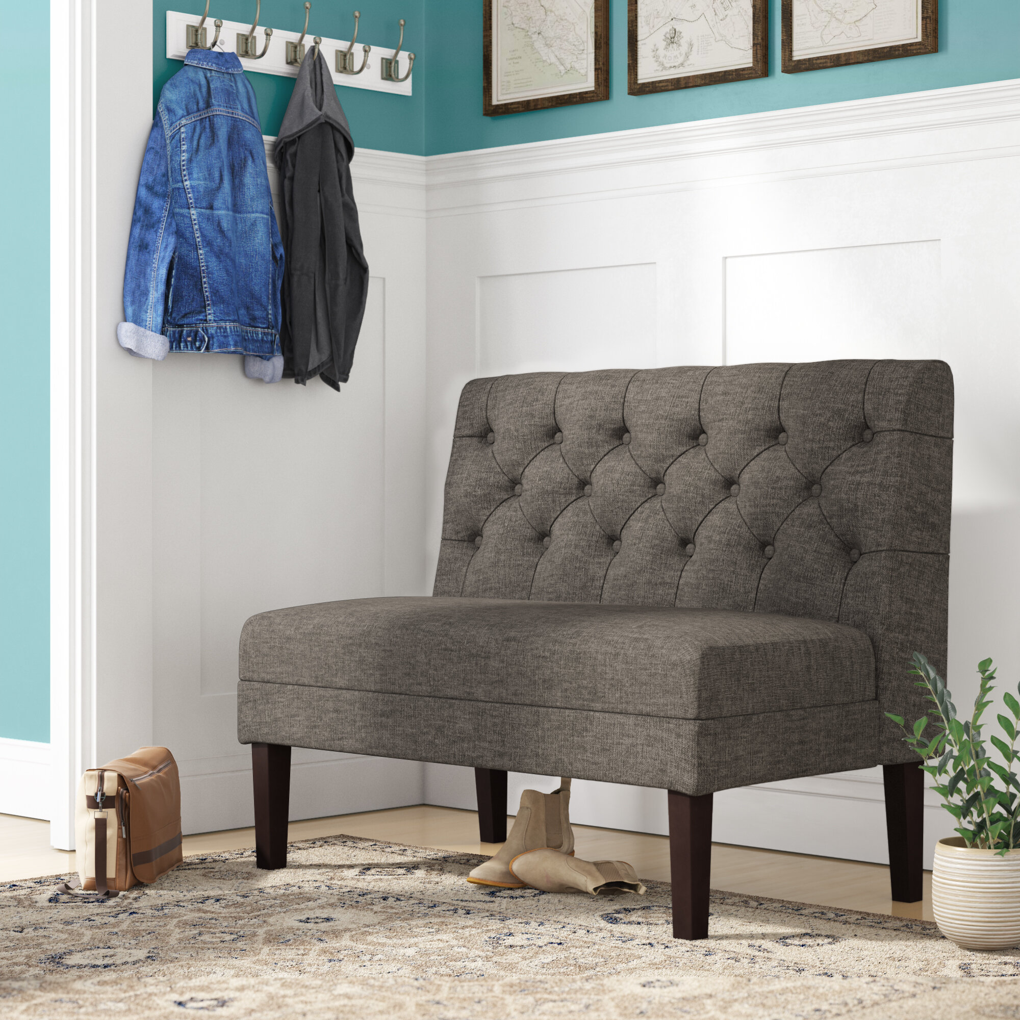 Picture of: Darby Home Co Urbana Upholstered Bench Reviews Wayfair Ca