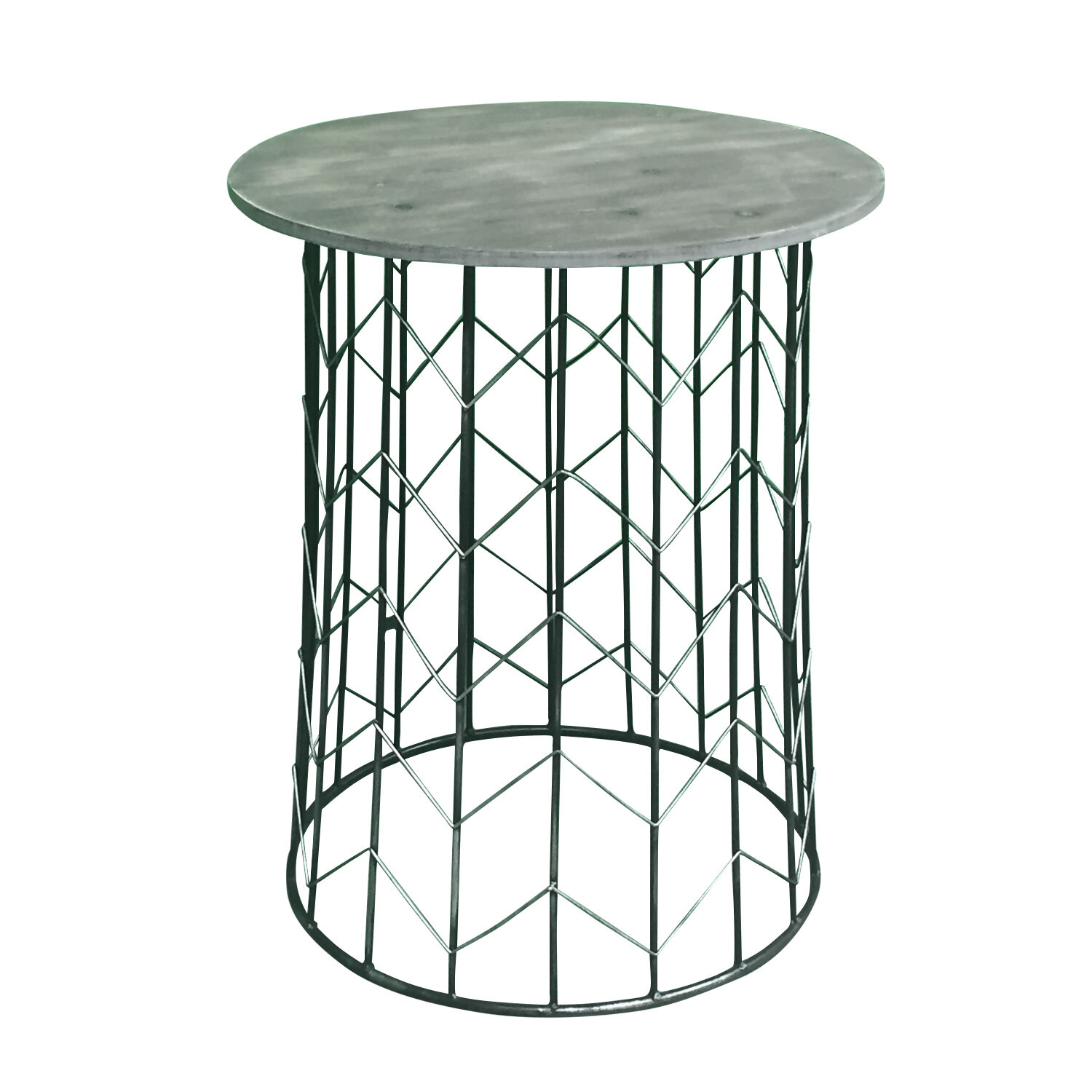 Gracie Oaks Pflugerville Chevron Metal End Table Wayfair
