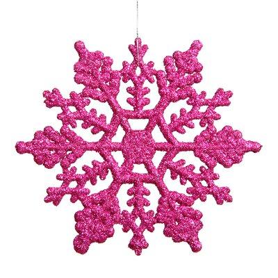 Glitter Snowflake Christmas Shaped Ornament Color: Magenta