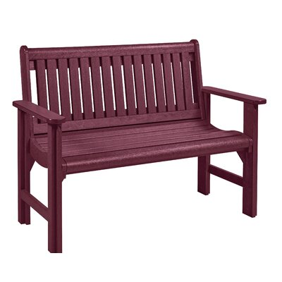 Alanna Plastic Garden Bench Color: Burgundy by Beachcrest Home