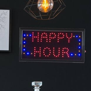 Happy Hour Animated Marquee Sign By Winston Porter