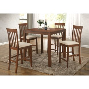 Pagel 5 Pieces Pub Table Set by Charlton Home Bargain