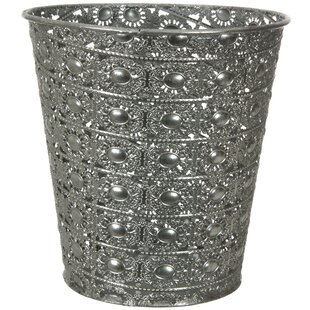Oriental Furniture Metal Waste Basket