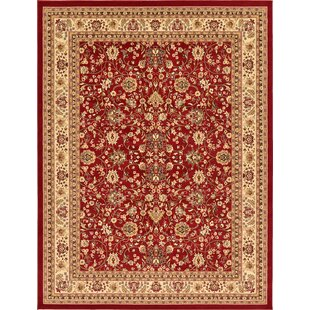 Safford Burgundy Area Rug by Charlton Home