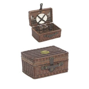 Lifestyle 2 Person Fitted Rectangular Picnic Basket By Brambly Cottage
