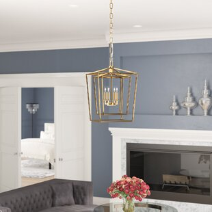 House of Hampton Susanna Transitional 4-Light Lantern Chandelier
