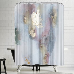 Affordable Christine Olmstead Rose 2 Shower Curtain By East Urban Home