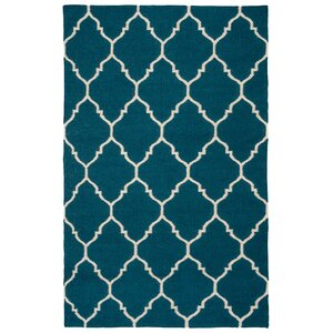 Fieldon Hand-Woven Blue Indoor/Outdoor Area Rug