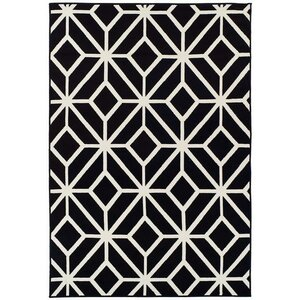 Pleione Black Indoor/Outdoor Area Rug