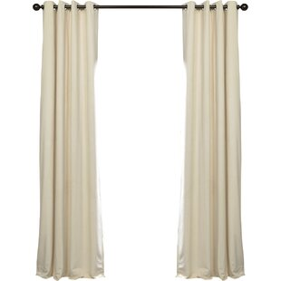 Ivory and Cream Velvet Curtains & Drapes You\'ll Love | Wayfair