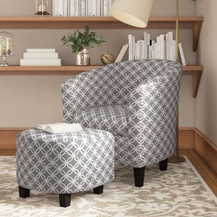 Poitras Barrel Chair And Ottoman by Andover Mills