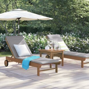 Brighton Gray Cushion Patio 3 Piece Single Lounge Set