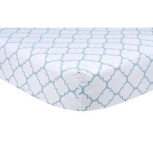 Price comparison Sky Quatrefoil Fitted Crib Sheet ByTrend Lab