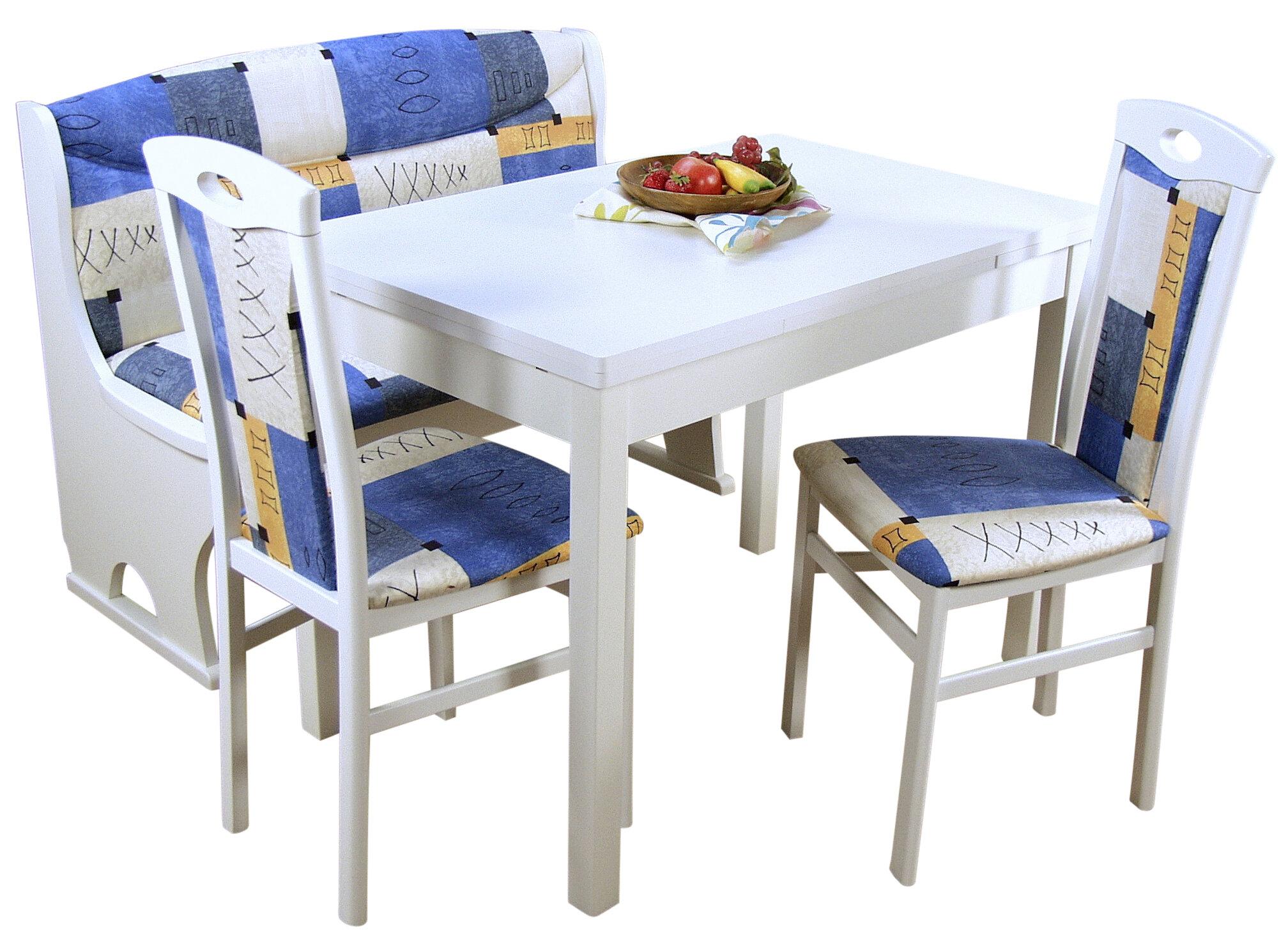 Ophelia Co Essgruppe Mit Ausziehbarem Tisch 2 Stuhlen Und Einer Bank Genevieve Wayfair De