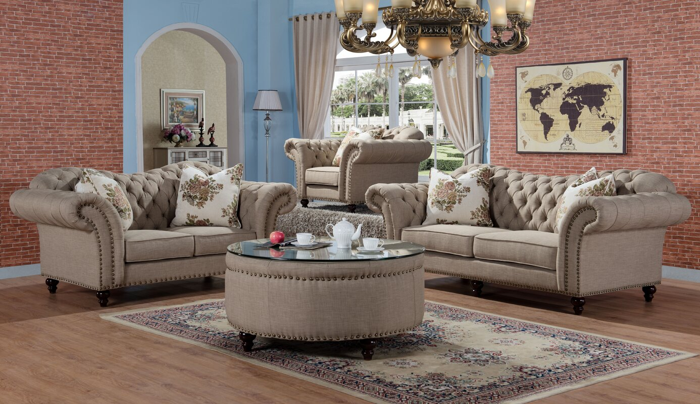 Rohan 2 Piece Living Room Set
