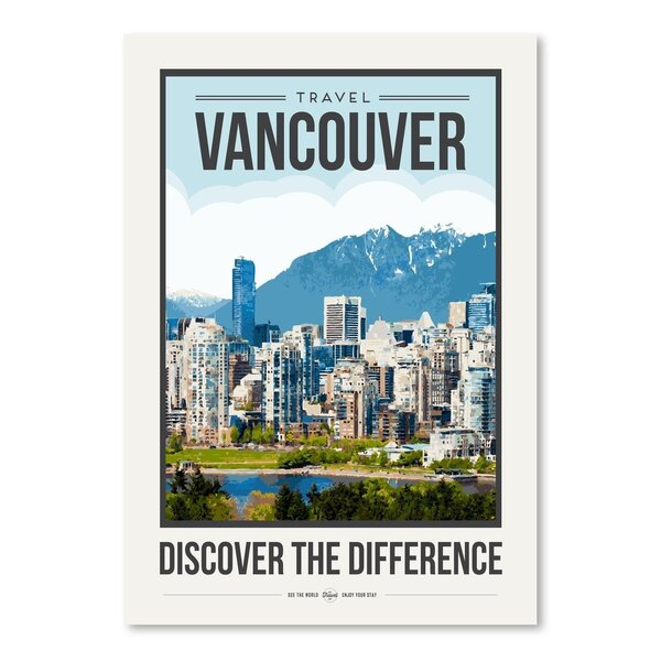 East Urban Home Travel Poster Vancouver Graphic Art Wayfair
