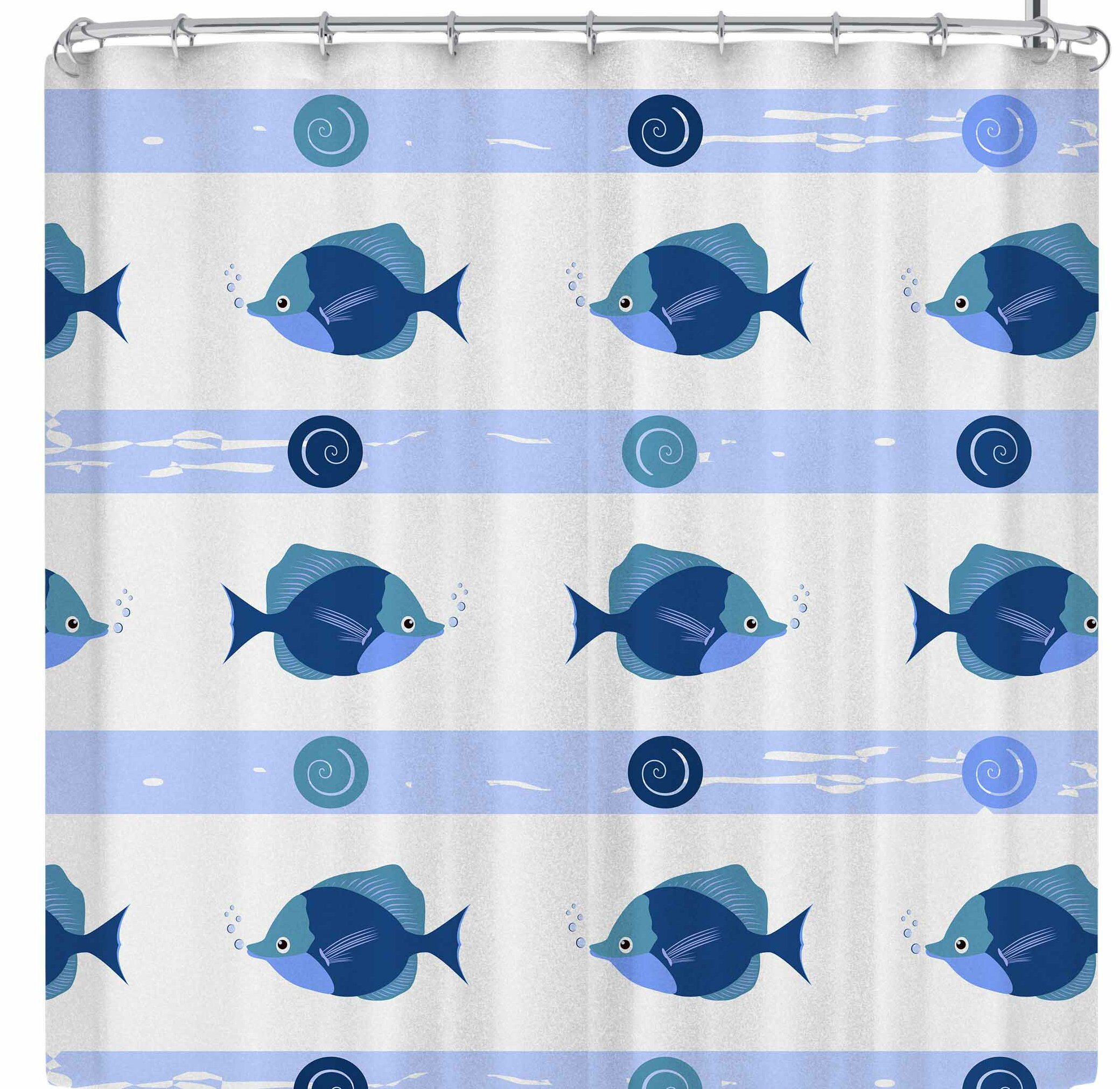 East Urban Home Afe Images Fish Single Shower Curtain   Wayfair