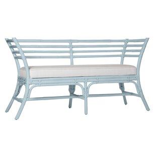 Sydney Wicker Bench by David Francis Furniture