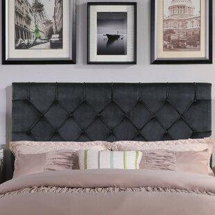 House of Hampton Heng Diamond Button Tufted Upholstered Panel Headboard