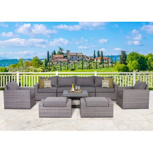 Goudreau 9 Piece Sofa Set with Cushions
