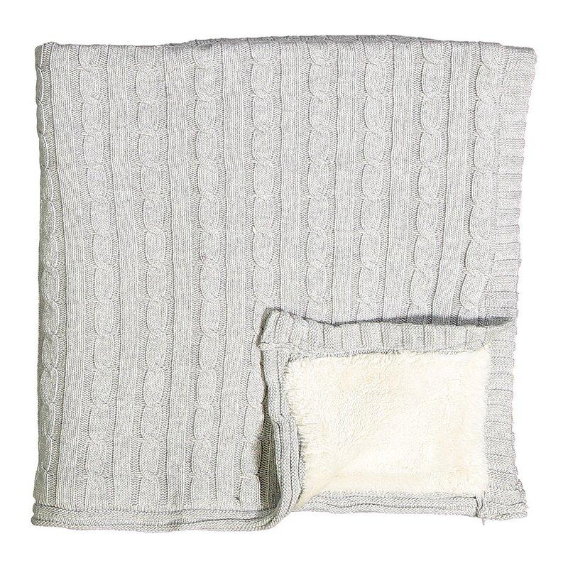 8b9620874 Harriet Bee Bayles Cable Knit Sherpa Baby Blanket | Wayfair