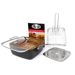 5-Piece Frying Pan Set with Lid