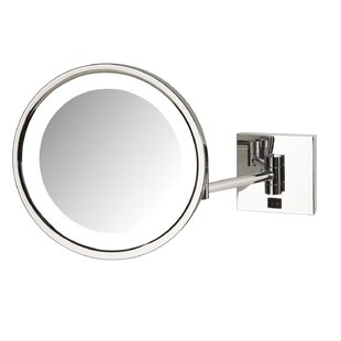 Top Reviews Odis LED Lighted Base Direct Wire Makeup/Shaving Mirror By Orren Ellis
