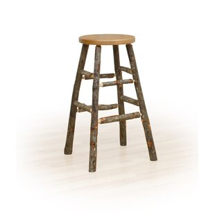 Sunnydale Hickory 30 Kitchen Stool Millwood Pines