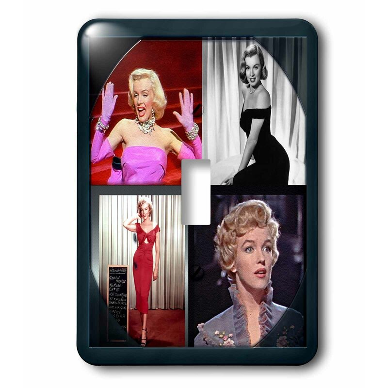 3drose Marilyn Monroe Collage 1 Gang Toggle Light Switch Wall Plate Wayfair