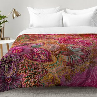 Flourish Berry Comforter Set by East Urban Home