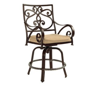 Leona Lucerne Cast Swivel Patio Bar Stool
