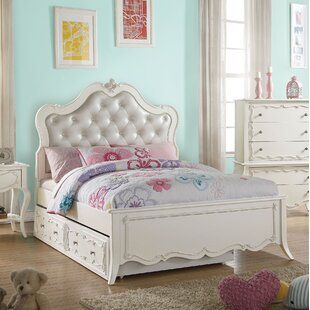 Harriet Bee Schechter Tufted Twin Platform Bed with Trundle