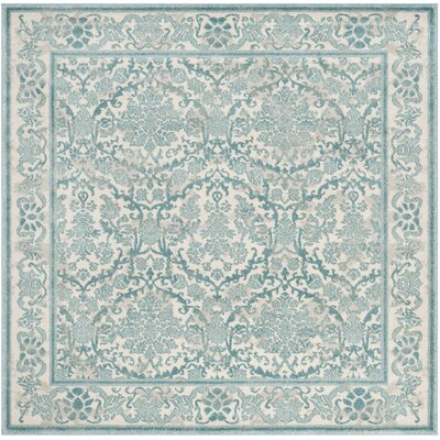 Montelimar Oriental Ivory/Light Blue Area Rug Lark Manor Rug Size: Rectangle 4' x 6'