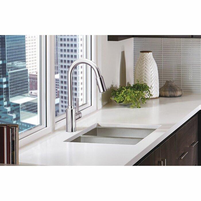 Genta Single Handle Pulldown Kitchen Faucet with Power Clean™, Reflex™,  Duralock™