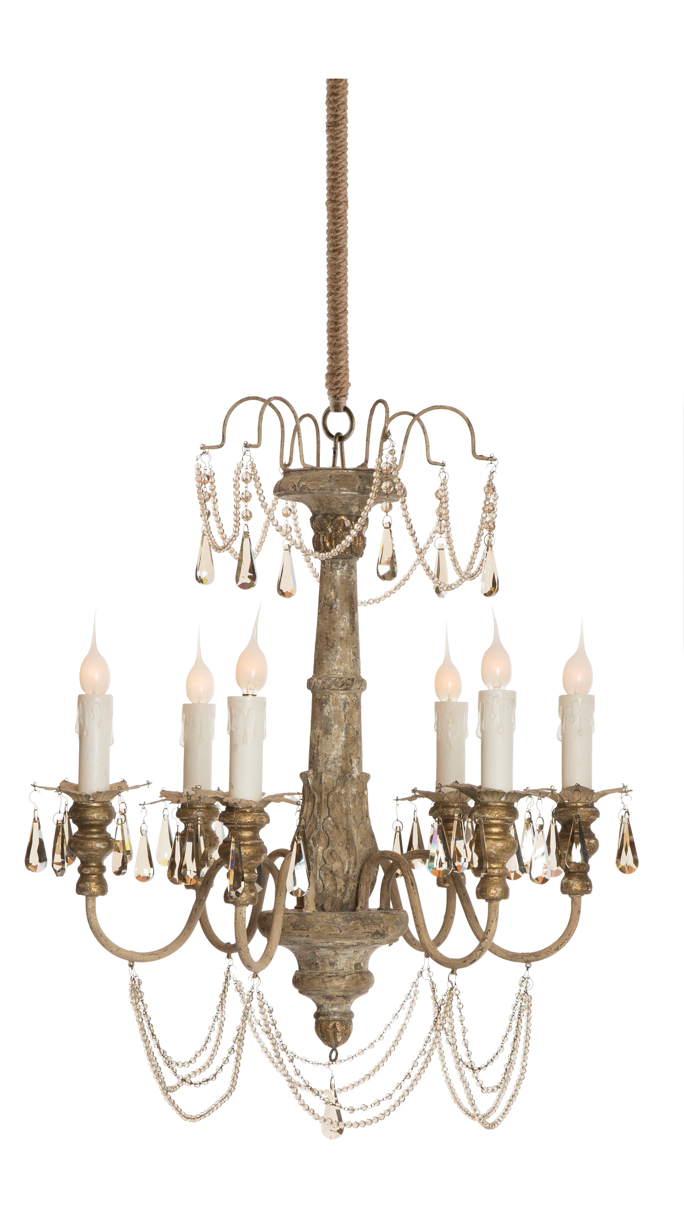 Aidan Gray Forli 6 Light Candle Style Chandelier & Reviews