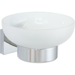 Orren Ellis Soriano Wall Mounted Frosted Glass Soap Dish