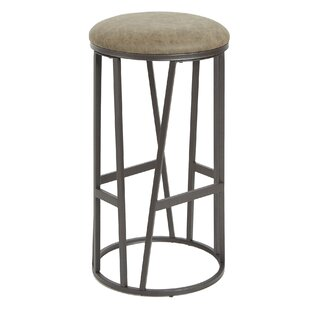 Macie Backless Barstool with Round Padded Seat by 17 Stories