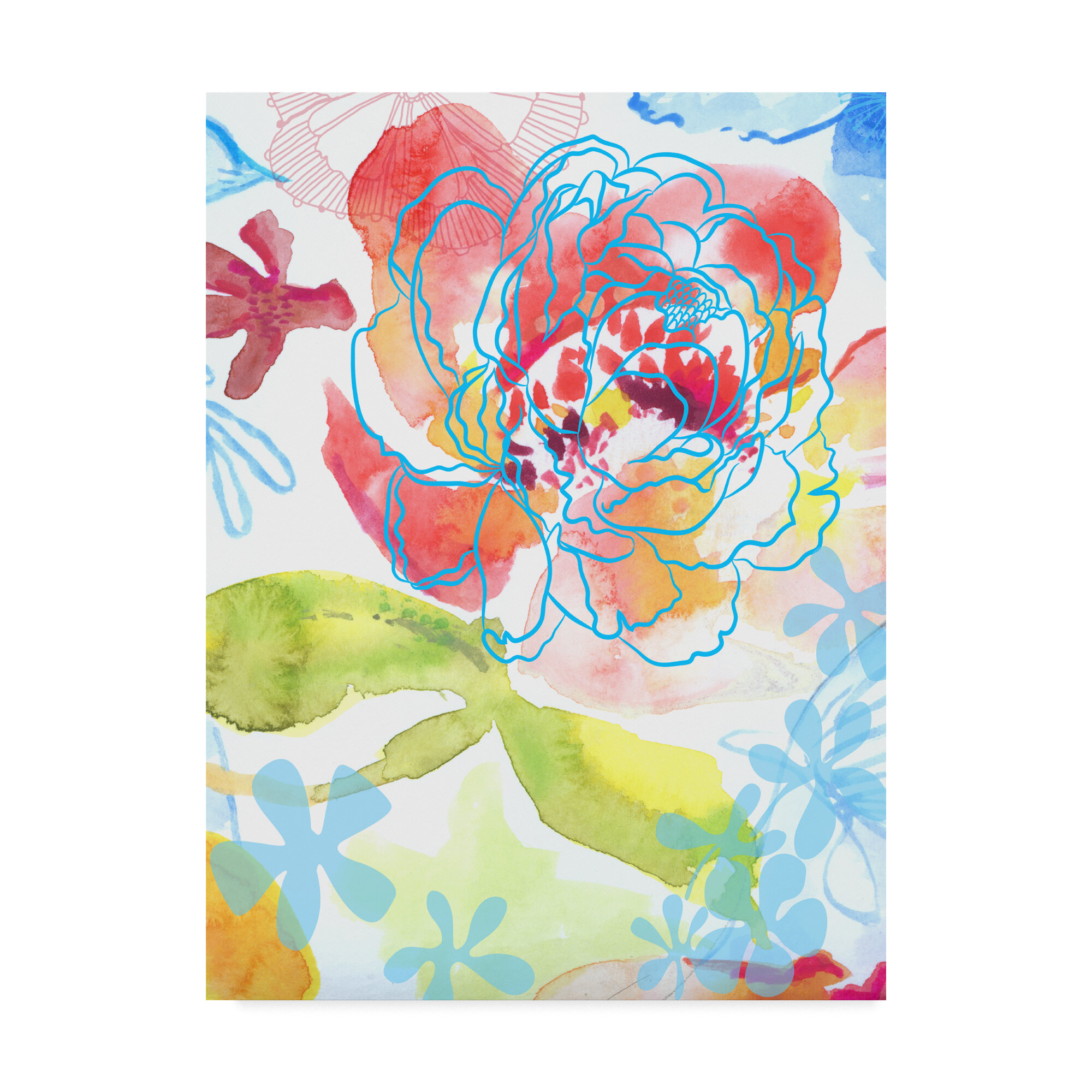 Ebern Designs Blossoms In The Sun Ii Painting On Wrapped Canvas Wayfair