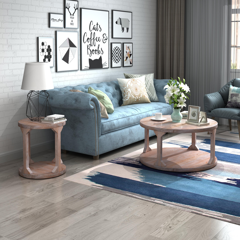 Beige Rustic Coffee Table Sets You Ll Love In 2021 Wayfair